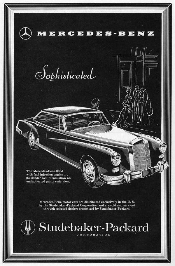 Retro ad of the week mercedes benz 300d 1958 for Mercedes benz south bend in