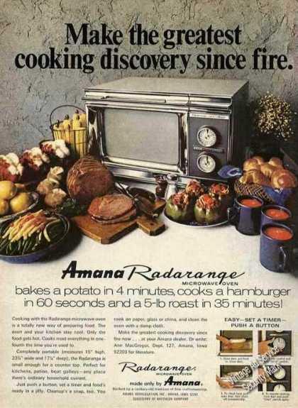 Retro Ad Of The Week Radarange Microwaves 1972
