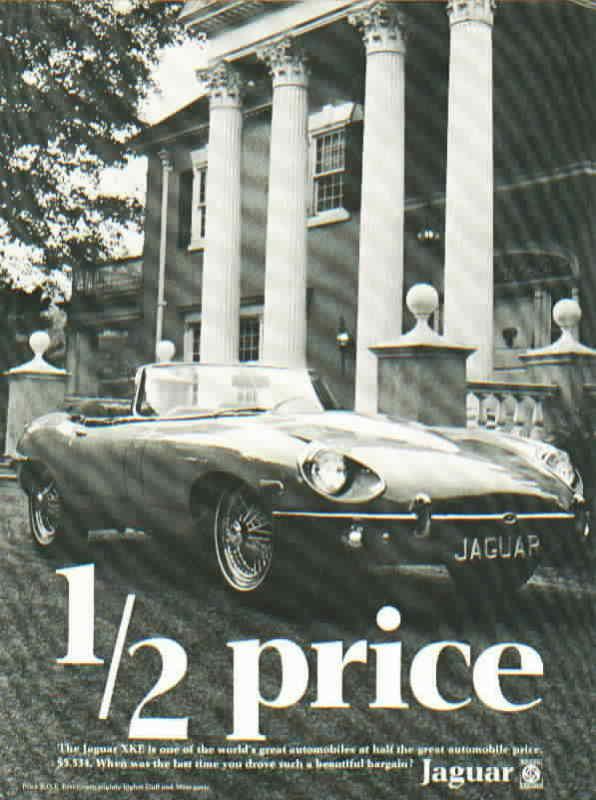 Luxury Car Marketing 1966 Jaguar Retro Print Advertisement