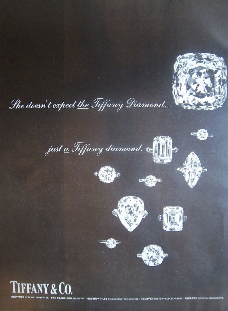 Jewelry Marketing Tiffany Co Print Ad From 1966