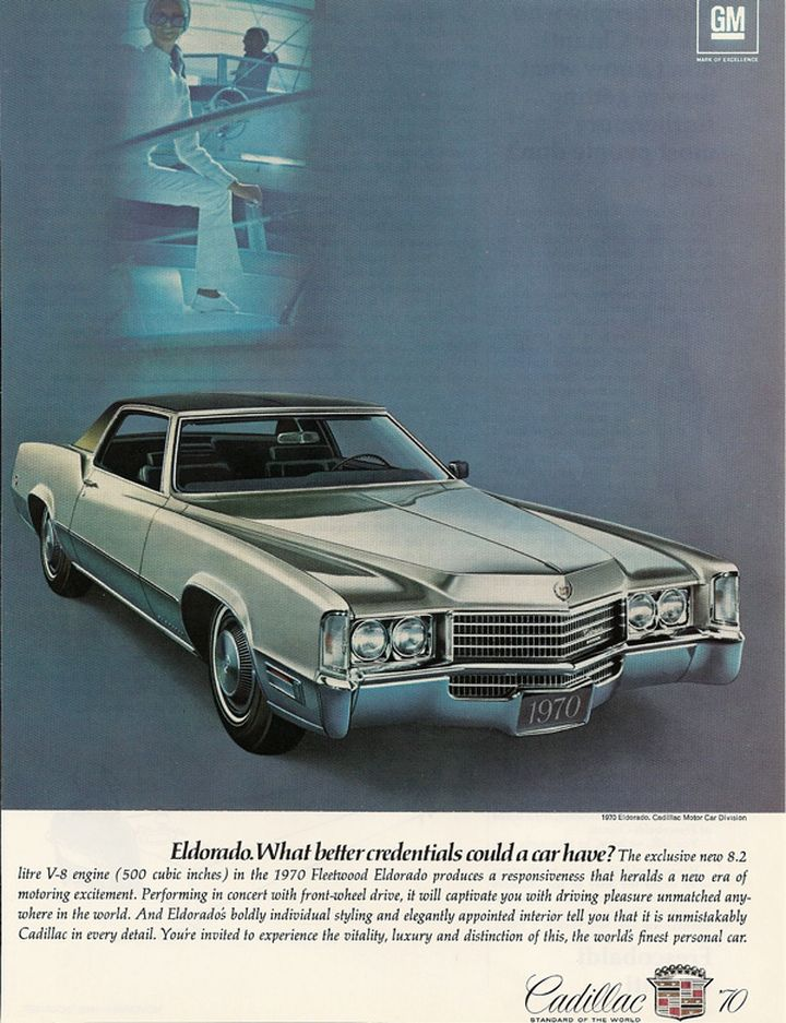 Luxury Car Advertising / Retro Ad of the Week: Cadillac, 1970