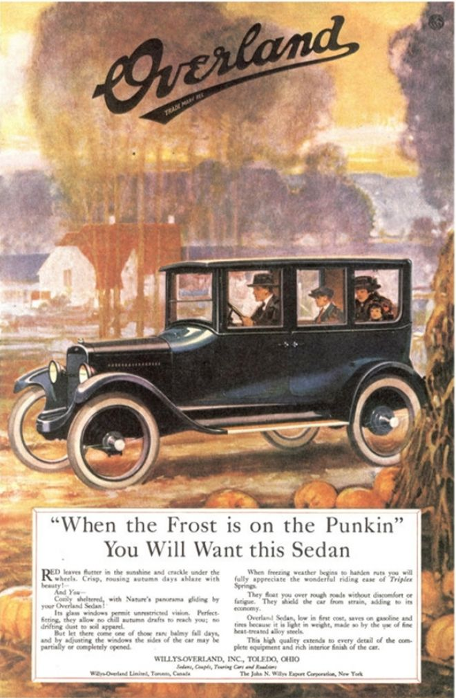 Best Overland Vehicles >> Effective Seasonal Advertising: 1920 Willys-Overland Print Ad