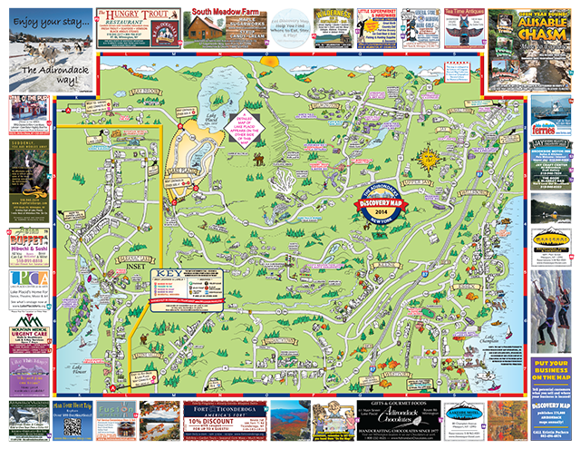 How This Female Hoh \planned\ Her Trip To Lake Placid: New York Map Lake Placid At Usa Maps