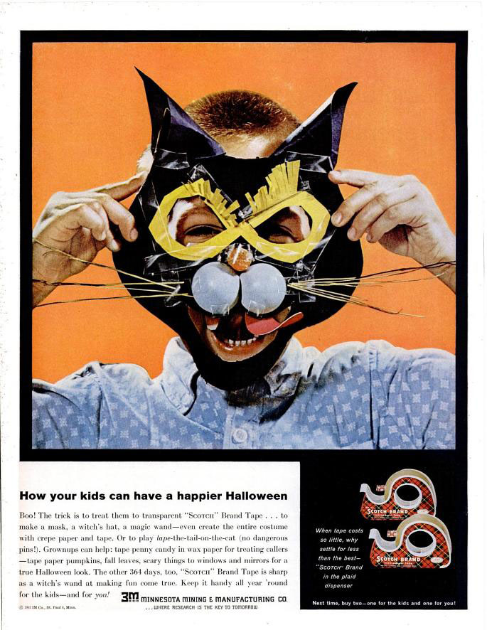 Halloween Creative Ads.Halloween Advertising Retro Ad Of The Week 3m Scotch Tape