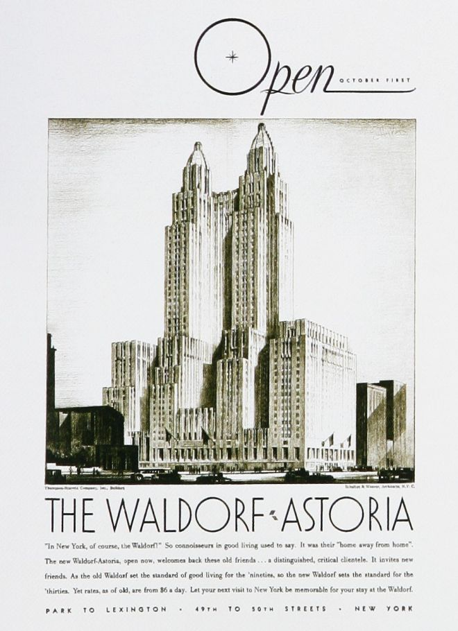Luxury Hotel Advertising Retro Ad Of The Week Waldorf Astoria 1931