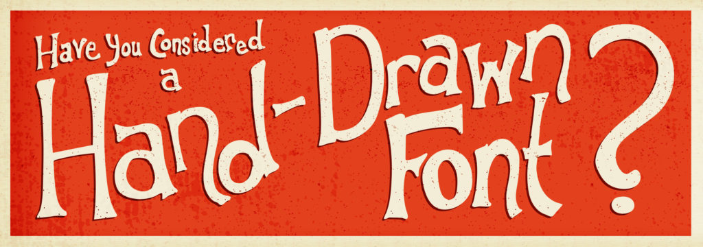 rise of hand drawn fonts