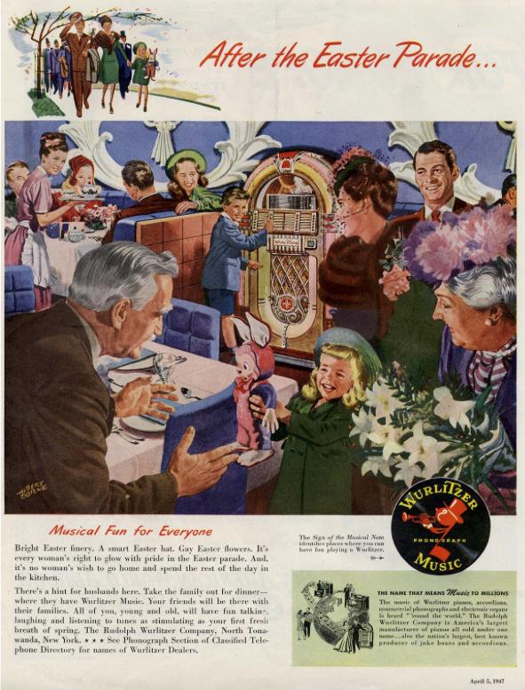 Vintage Wurlitzer Ad