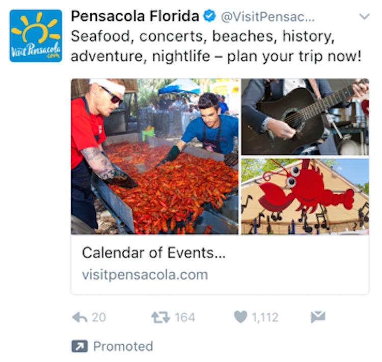 destination ads on twitter