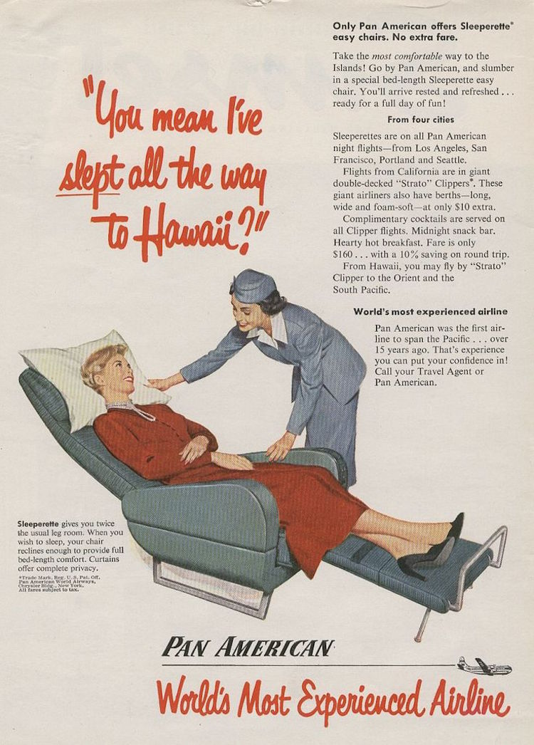 Retro Ad Of The Week Pan American Airlines 1950