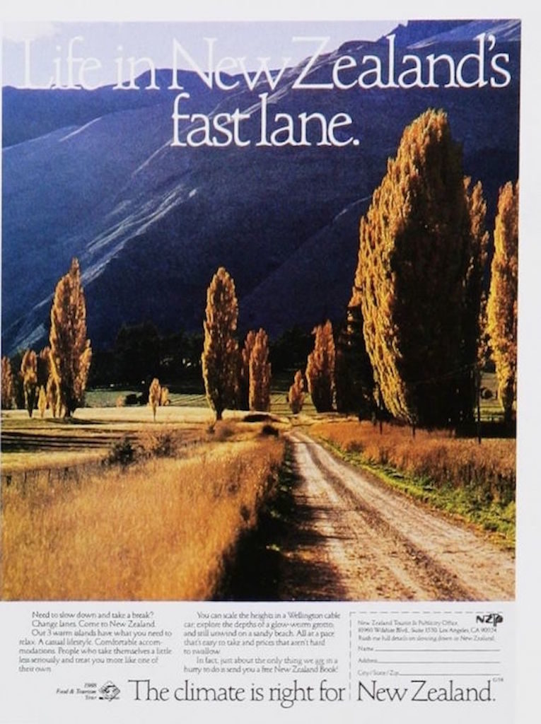 retro new zealand tourism ad
