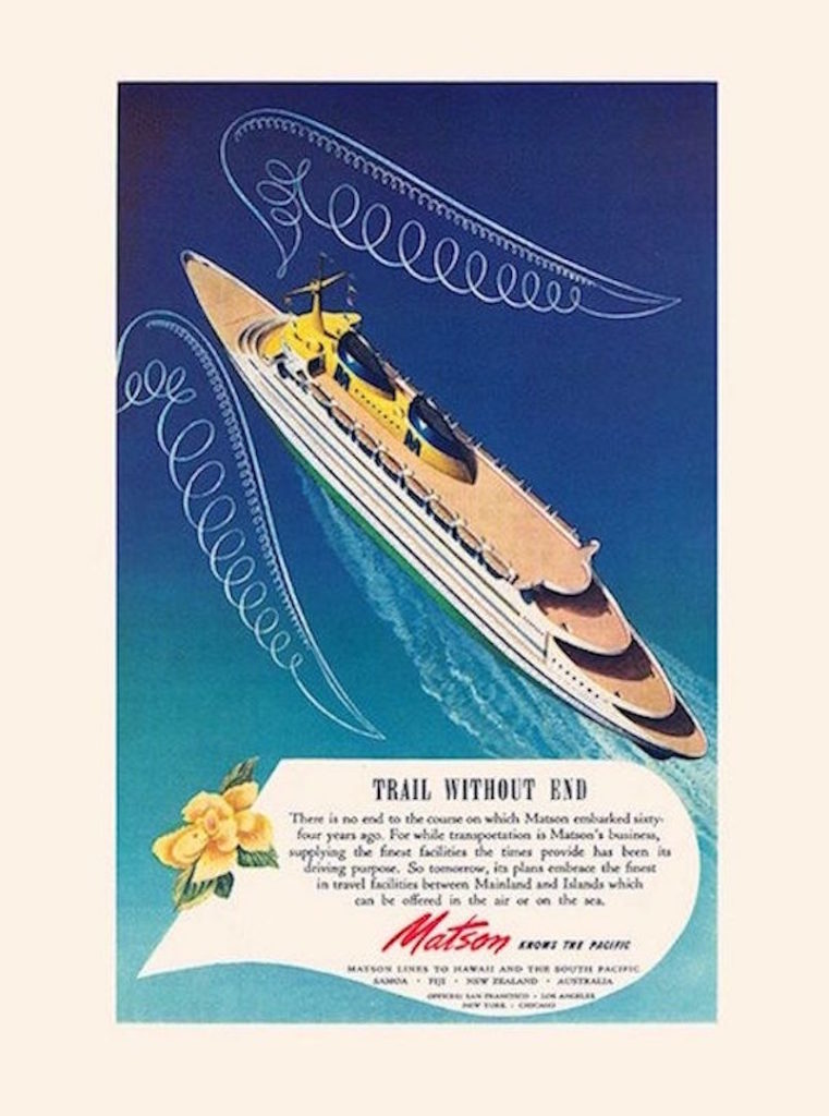 1940s cruise advertisement