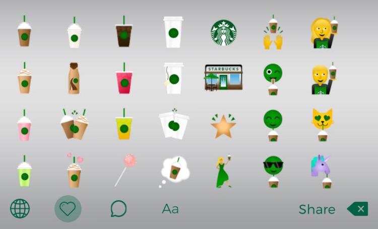 starbucks emojis in social media marketing