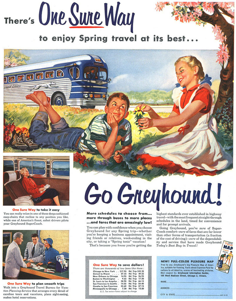 Retro Ad of the Week: Greyhound, 1957